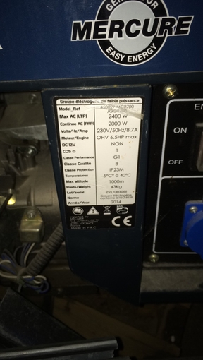 Group generator GENERATOR MC 2700 €30